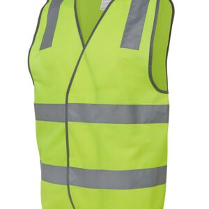 JB's Hi Vis (D+N) Safety Vest Lime S Thumbnail